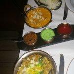 Agneau Korma et Byriamia delice de l'inde ( agneau / crevette / poulet)