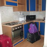 Luggage had to go in the kitchen