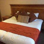 Impressed with the size of the bed. It was huge.