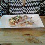 Garlic mushrooms with ciabatta