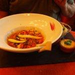 Wok cabillaud et crevettes