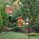 HIYA Garden - View on the neighboring monastery
