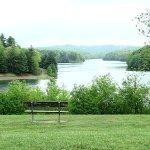 lake - we ate on that bench