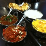 Lamb rogan josh and chicken kadhai