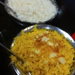 saffron rice and steamed basmati