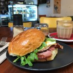 The cafe changes its name. Latte is thick and smoth, the burger is also worth a try.