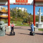 The Chinese gate in Louise McKinney Park.