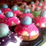 New range of cupcakes. Raspberry red velvet, strawberry pink velvet and vanilla lemon velvet
