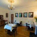 Our lovely breakfast room that looks out onto the beautiful Pannet Park