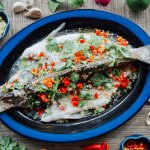 Spicy Steamed Sea Bass