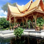 Thai pavilion and pond