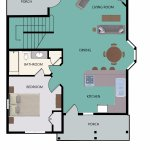 Floor Plan for 4-Bedroom Main Floor