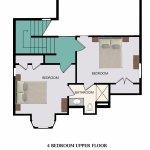 Floor Plan for 4-Bedroom Upper Floor