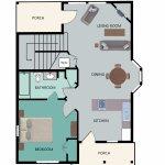 Floor Plan for 2-Bedroom Main Floor