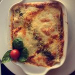 Lasagna with Trucha and Asparagus