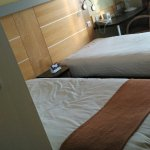 Room upon entry, after a complaint,  double room was given