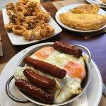 Lunch - Calamari, Sausage/Egg/Pototoe