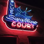 Neon in the motor court area.