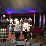 Audience participation during Auld Lang Syne