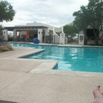 Nice loungers and couch's to sit or lay on. Great pool and big bath towels