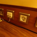 useful for mainlaind European travellers:a round plug socket as well as the normal Irish ones