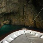 Inside the Emerald Grotto, Capri