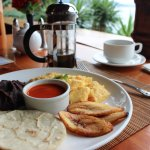 Loved the typical Guatemalan breakfast with local coffee at Zotz