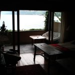 View of the outside of Pato Poc - Loved the patio with volcano and water views