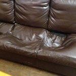 A sofa at YHA Helvellyn