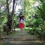 Walking along the Drilon Orchidarium