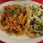 Prawn Taco and Pork with Spicy topping