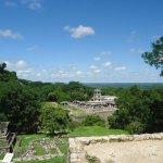 vista desde el tempo principal del cerro de la cruces construido por el sucedor de pakal.