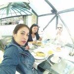Desayunando en familia en la Cúpula