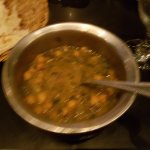 Palek Chole - disappointing and soupy, bland