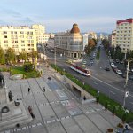 The view from my room, looking down Stefan cel Mare Avenue to the Palace of Culture.