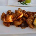 Calamari with garlic and onion