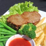 Mr.Grilled Steak with French Fries