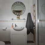 Serviced flat   Shower sink and toilet