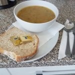 Big bowl of soup and farmhouse bread 2.99 😀