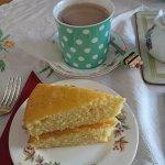 Lemon Cake and Hot Chocolate