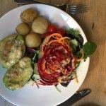 Avocado stuffed with Stilton