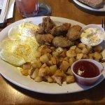 Fried oyster breakfast