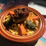 Amazing Moroccan food in the heart of town. Freshly made to order, tastes totally amazing and of