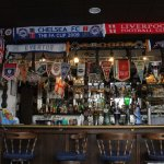 English pub atmosphere is authentic and prevails at Erie Belle.