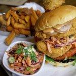 Stacked Fish Burger
