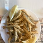 Delicately fried sardines