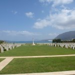 The Allied War Cemetery at Souda Bay just along the beach from Pyrofani Restaurant.