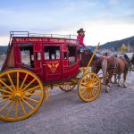 A fall ride on our restored Wells Fargo Stagecoach