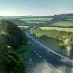 View across fields from bedroom window