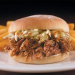 Pork E. Pig is our signature  pulled pork sandwich